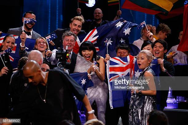 Dami Im representing Australia is seen at the Ericsson Globe on May 14 2016 in Stockholm Sweden