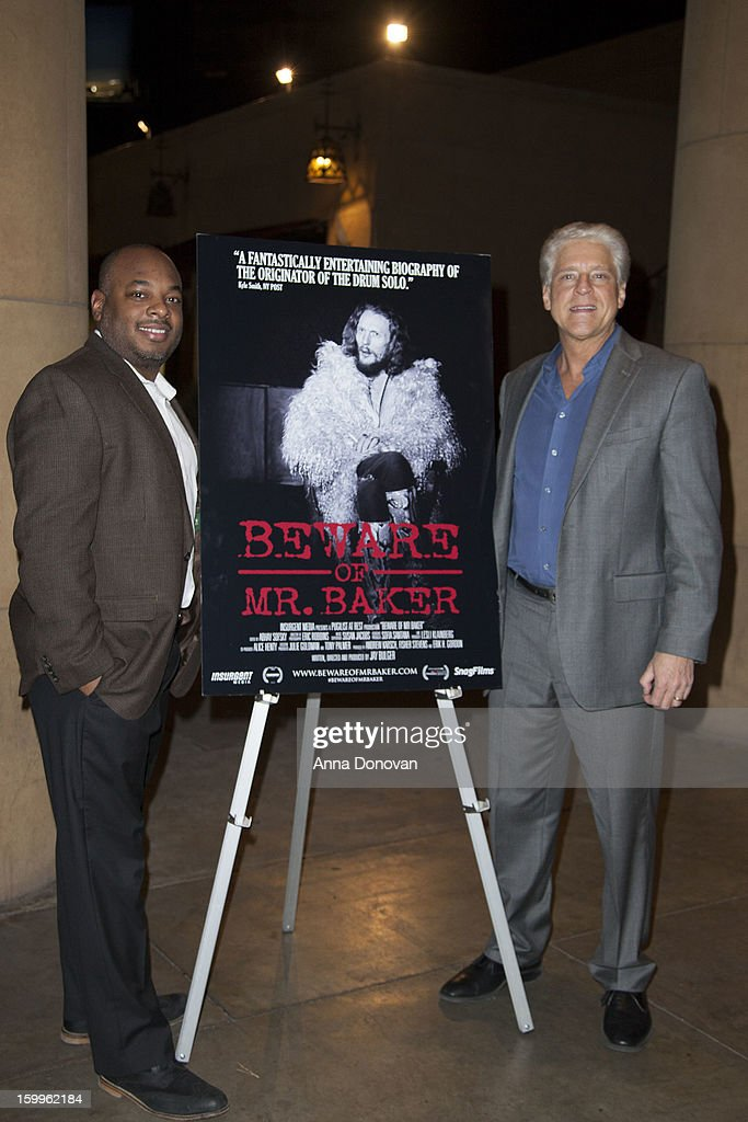 Damian Benders and Rick Allen attend a special screening of 'Beware Of Mr Baker' at the Egyptian Theatre on January 23 2013 in Hollywood California