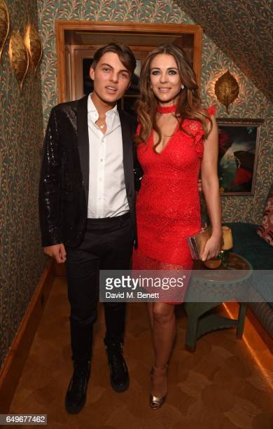 Damian Hurley and Elizabeth Hurley attend the World Premiere after party for 'The Time Of Their Lives' at 5 Hertford Street on March 8 2017 in London...