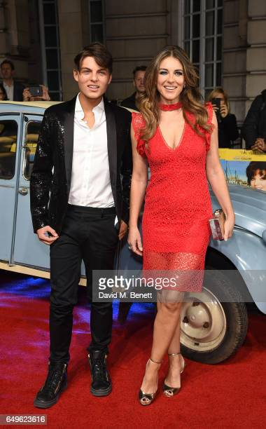 Damian Hurley and Liz Hurley attend the World Premiere of 'The Time Of Their Lives' at The Curzon Mayfair on March 8 2017 in London England