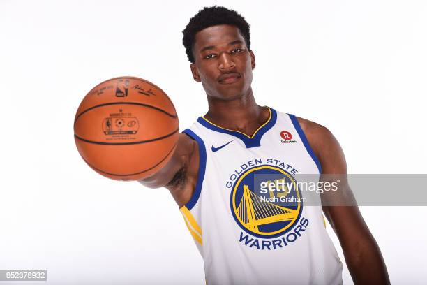 Damian Jones of the Golden State Warriors poses for a portrait during media day on September 22 2017 at Oracle Arena in Oakland California NOTE TO...