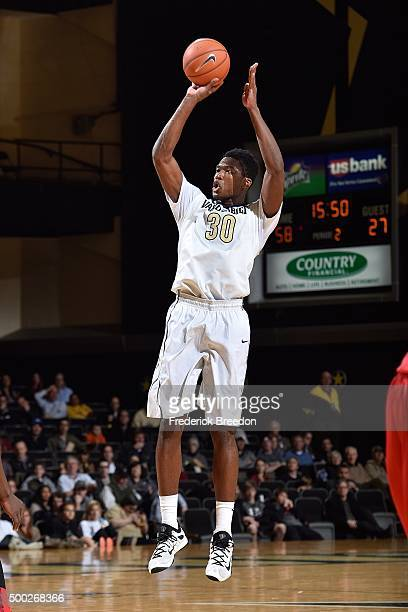 Damian Jones of the Vanderbilt Commodores plays against the Detroit Titans at Memorial Gym on December 2 2015 in Nashville Tennessee
