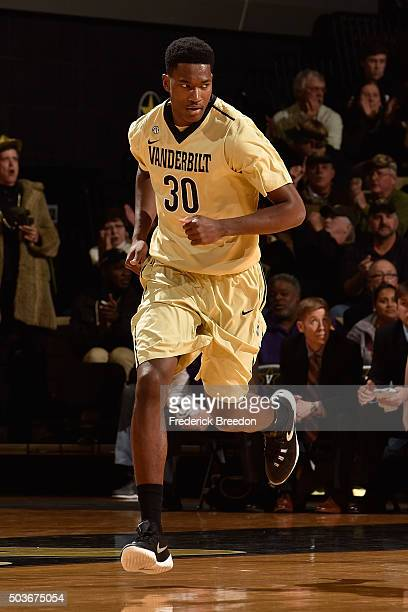 Damian Jones of the Vanderbilt Commodores plays against the LSU Tigers during the second half at Memorial Gym on January 2 2016 in Nashville Tennessee