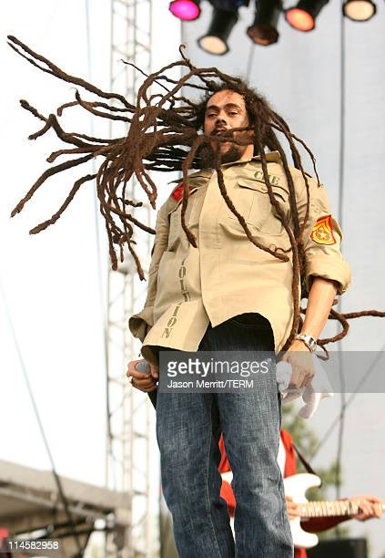Damian 'Jr Gong' Marley during Bonnaroo 2006 Day 2 Damian 'Jr Gong' Marley at Which Stage in Manchester Tennessee United States