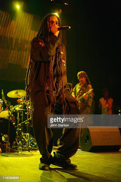 Damian 'Jr Gong' Marley during Damian Marley in Concert at the Enmore Theatre in Sydney April 13 2006 at Enmore Theatre in Sydney NSW Australia