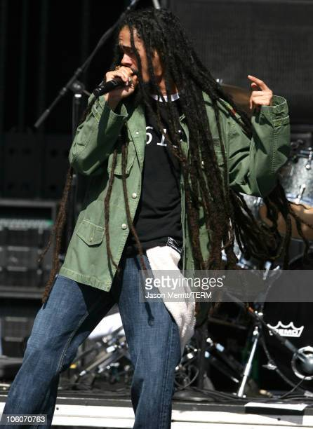 Damian 'Jr Gong' Marley during KROQ Weenie Roast Y Fiesta 2006 Show at Verizon Wireless Amphitheater in Irvine California United States