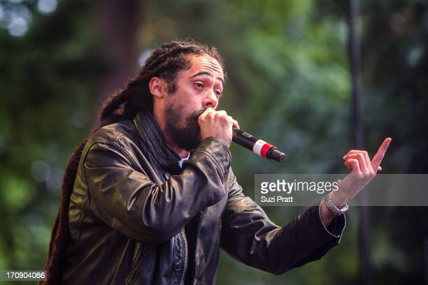 Damian 'Jr Gong' Marley performs at Marymoor Park on June 19 2013 in Redmond Washington