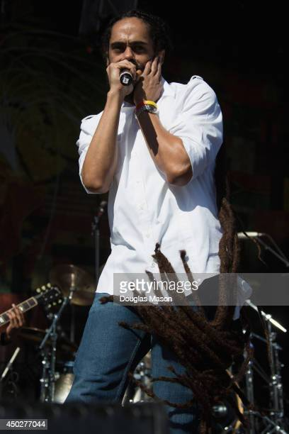 Damian 'Jr Gong' Marley performs during 10th Annual Mountain Jam at Hunter Mountain on June 7 2014 in Hunter New York