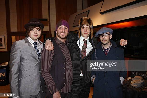 Damian Kulash Andy Ross Dan Konopka and Tim Nordwind of OK GO wearing Stetson Modern