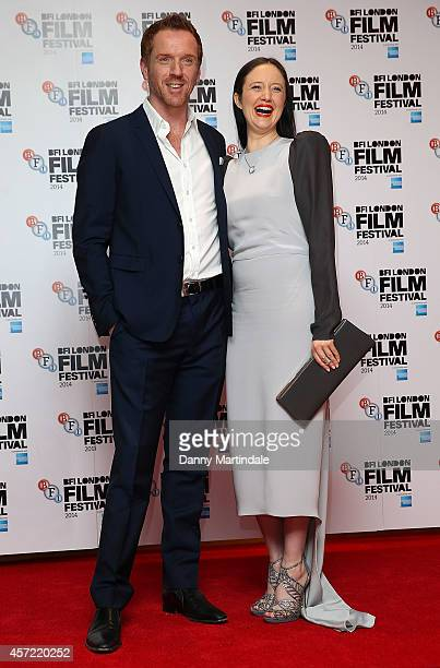 Damian Lewis and Andrea Riseborough attends a screening of 'Silent Storm' during the 58th BFI London Film Festival at Vue West End on October 14 2014...