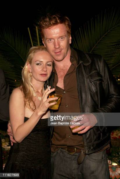 Damian Lewis and guest during 2005 Cannes Film Festival 'Lower City' Party in Cannes France
