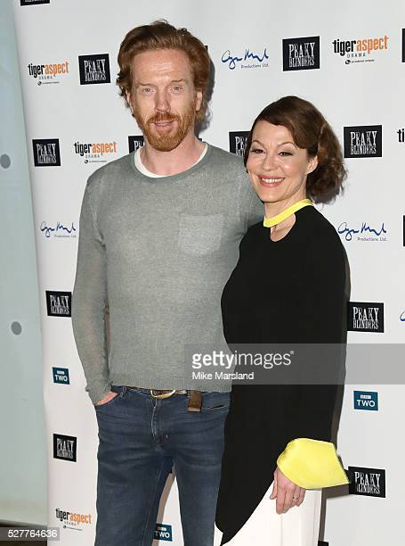 Damian Lewis and Helen McCrory attend BBC Two's drama 'Peaky Blinders' UK premiere screening of episode one series three at BFI Southbank on May 3...