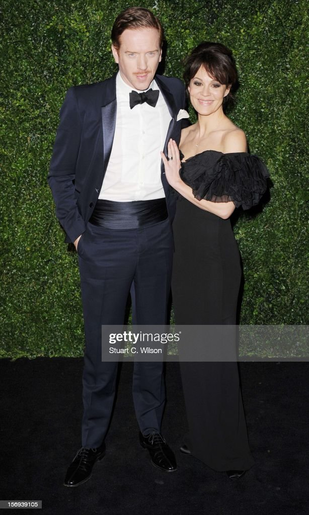 Damian Lewis and Helen McCrory attend the 58th London Evening Standard Theatre Awards in association with Burberry on November 25, 2012 in London, England.