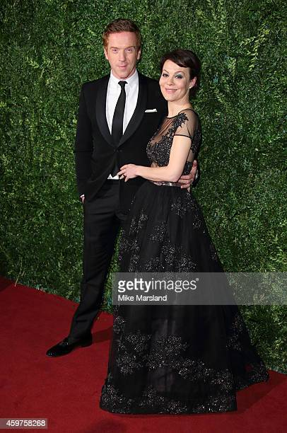 Damian Lewis and Helen McCrory attend the 60th London Evening Standard Theatre Awards at London Palladium on November 30 2014 in London England