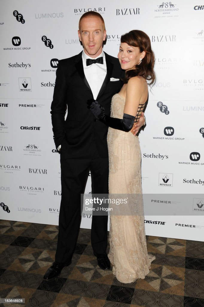 <a gi-track='captionPersonalityLinkClicked' href=/galleries/search?phrase=Damian+Lewis&family=editorial&specificpeople=206939 ng-click='$event.stopPropagation()'>Damian Lewis</a> and <a gi-track='captionPersonalityLinkClicked' href=/galleries/search?phrase=Helen+McCrory&family=editorial&specificpeople=214616 ng-click='$event.stopPropagation()'>Helen McCrory</a> attend the BFI Luminous Gala dinner at 8 Northumberland Avenue on October 8, 2013 in London, England.