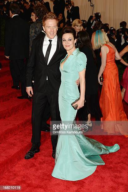 Damian Lewis and Helen McCrory attend the Costume Institute Gala for the 'PUNK Chaos to Couture' exhibition at the Metropolitan Museum of Art on May...