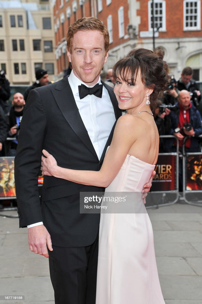 <a gi-track='captionPersonalityLinkClicked' href=/galleries/search?phrase=Damian+Lewis&family=editorial&specificpeople=206939 ng-click='$event.stopPropagation()'>Damian Lewis</a> and <a gi-track='captionPersonalityLinkClicked' href=/galleries/search?phrase=Helen+McCrory&family=editorial&specificpeople=214616 ng-click='$event.stopPropagation()'>Helen McCrory</a> attend The Laurence Olivier Awards at The Royal Opera House on April 28, 2013 in London, England.
