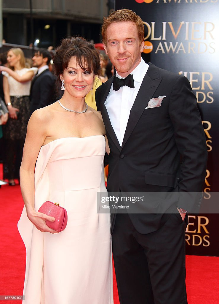 Damian Lewis and Helen McCrory attend The Laurence Olivier Awards at The Royal Opera House on April 28, 2013 in London, England.