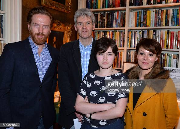 Damian Lewis and Helen McCrory with first prize winner Will Kemp and Young Romantics winner Riona Millar at the KeatsShelley Romantic Poetry Prize at...