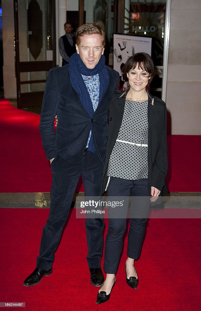 <a gi-track='captionPersonalityLinkClicked' href=/galleries/search?phrase=Damian+Lewis&family=editorial&specificpeople=206939 ng-click='$event.stopPropagation()'>Damian Lewis</a> and Helen McRory attends the press night for 'The Book of Mormon' at Prince Of Wales Theatre on March 21, 2013 in London, England.