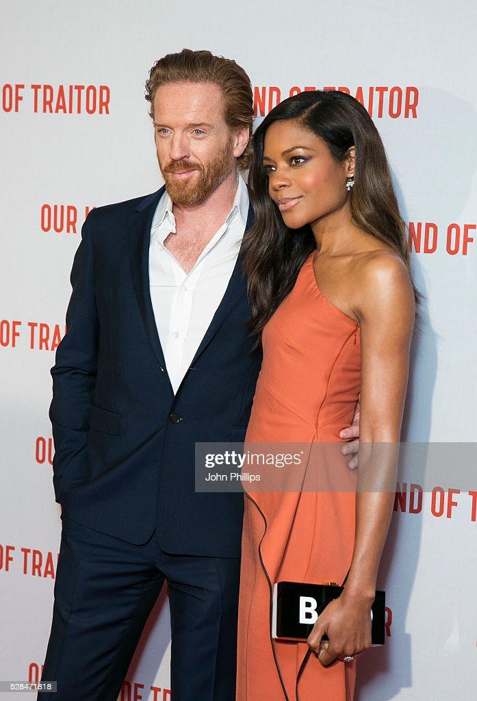 Damian Lewis and Naomie Harris arrive for the UK Gala of 'Our Kind Of Traitor' at The Curzon Mayfair on May 5, 2016 in London, England.
