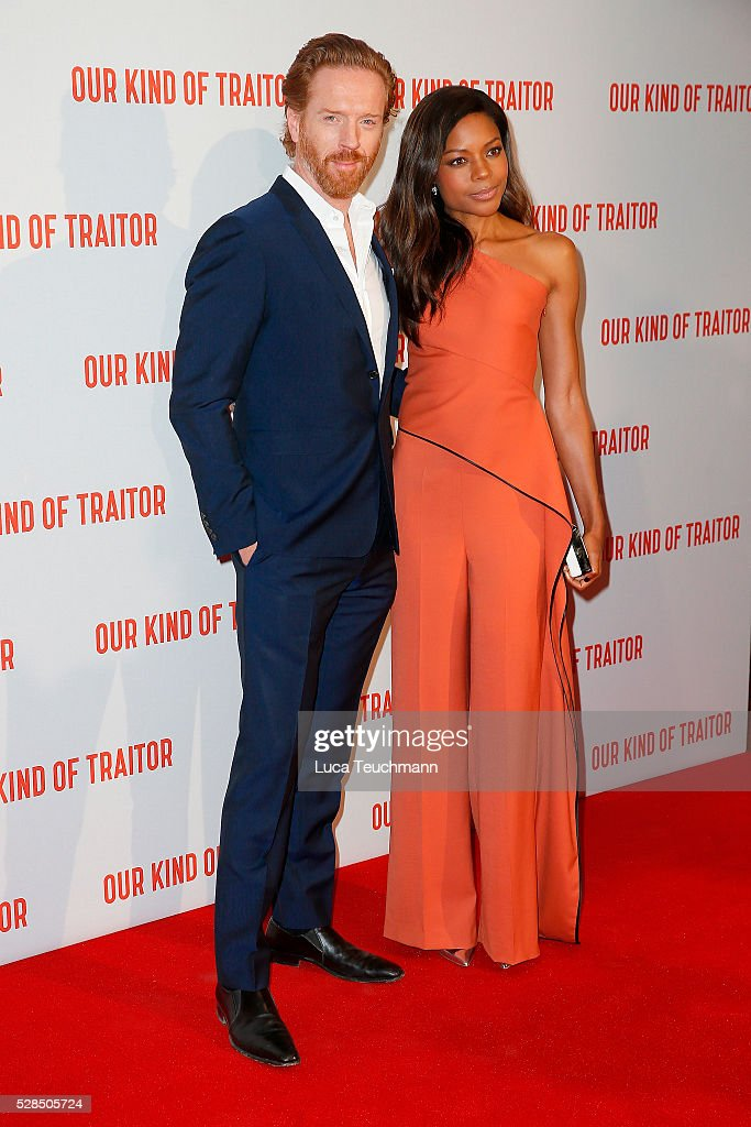 Damian Lewis and Naomie Harris arrives for the UK Gala of 'Our Kind Of Traitor' at The Curzon Mayfair on May 5, 2016 in London, England.