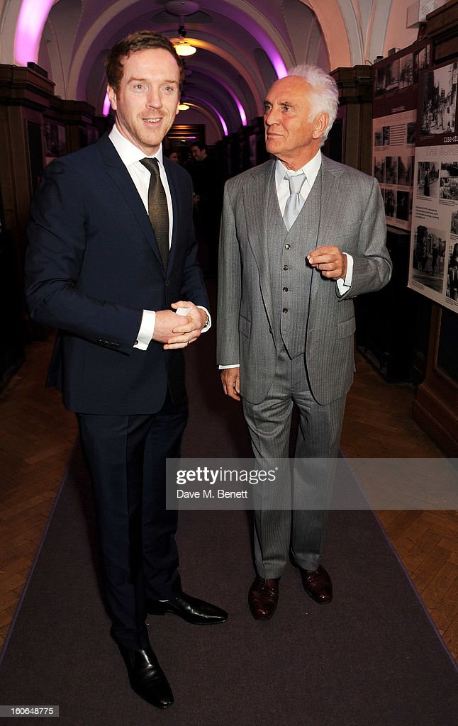 Damian Lewis (L) and Terence Stamp attends the London Evening Standard British Film Awards supported by Moet & Chandon and Chopard at the London Film Museum on February 4, 2013 in London, England.