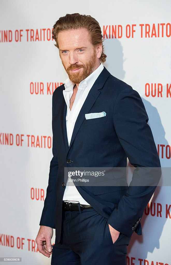 Damian Lewis arrive for the UK Gala of 'Our Kind Of Traitor' at The Curzon Mayfair on May 5, 2016 in London, England.