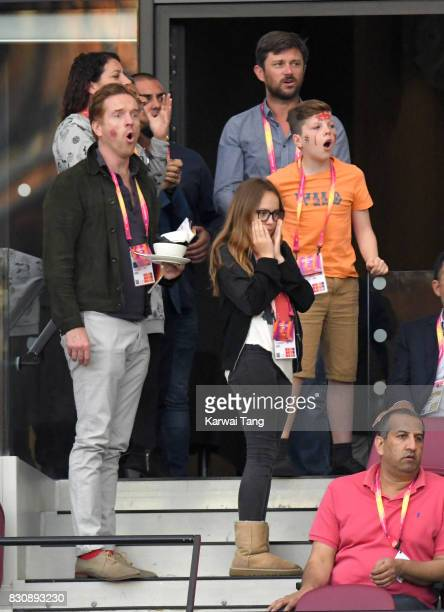 Damian Lewis attends day nine of the IAAF World Athletics Championships at the London Stadium on August 12 2017 in London United Kingdom