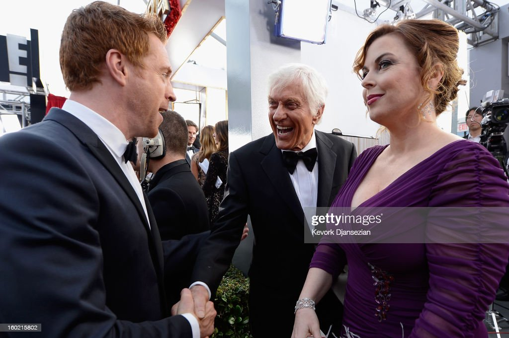Damian Lewis, Dick Van Dykes and Arlene Silver arrive at the 19th Annual Screen Actors Guild Awards held at The Shrine Auditorium on January 27, 2013 in Los Angeles, California.