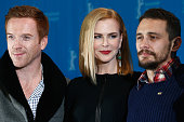 Damian Lewis Nicole Kidman and James Franco attend the 'Queen of the Desert' photocall during the 65th Berlinale International Film Festival at Grand...