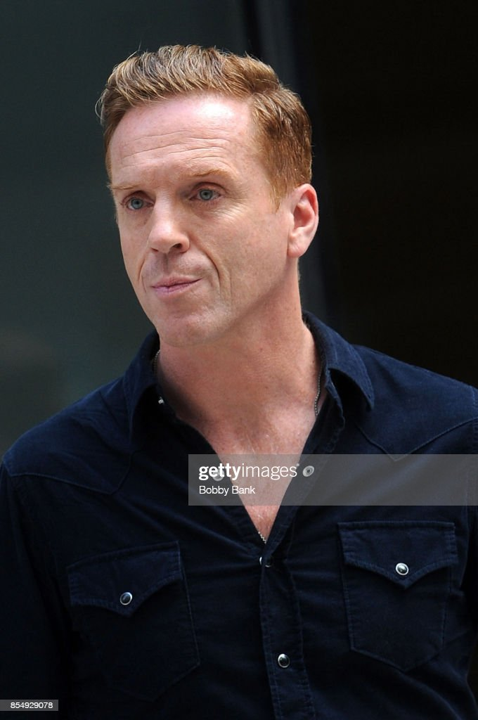 Damian Lewis on the set of 'Billions' in NYC, September 27, 2017