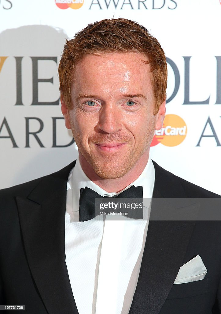 Damian Lewis poses in the press room at The Laurence Olivier Awards at The Royal Opera House on April 28, 2013 in London, England.