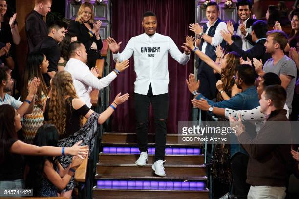 Damian Lillard greets the audience during 'The Late Late Show with James Corden' Friday September 8 2017 On The CBS Television Network