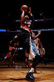 Damian Lillard of the Portland Trail Blazers shoots the ball versus the Denver Nuggets on November 9 2015 at the Pepsi Center in Denver Colorado NOTE...
