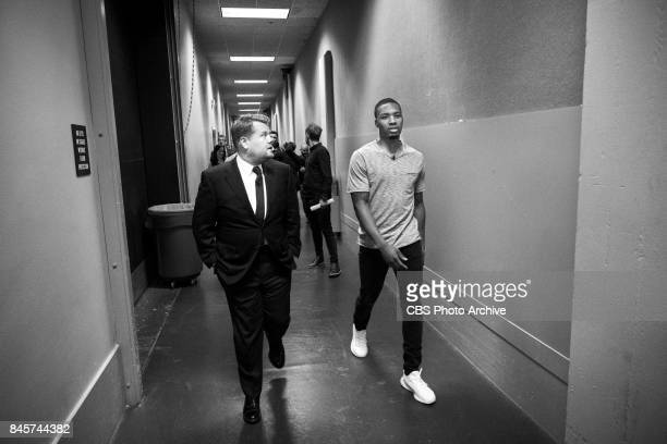 Damian Lillard performs in a sketch with James Corden during 'The Late Late Show with James Corden' Friday September 8 2017 On The CBS Television...