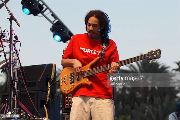 Damian Marley during 2006 Coachella Valley Music and Arts Festival Day One at Empire Polo Field in Indio California United States