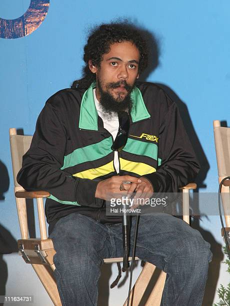 Damian Marley during Bonnaroo 2006 Day 2 Press Conference in Manchester Tennessee United States