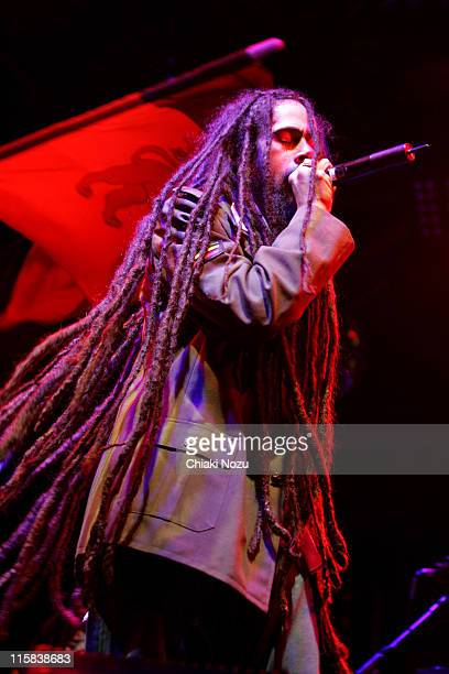 Damian Marley during Damian 'Jr Gong' Marley Performs Live at 2006 Somerset House Summer Series July 11 2006 at Somerset House in London Great Britain
