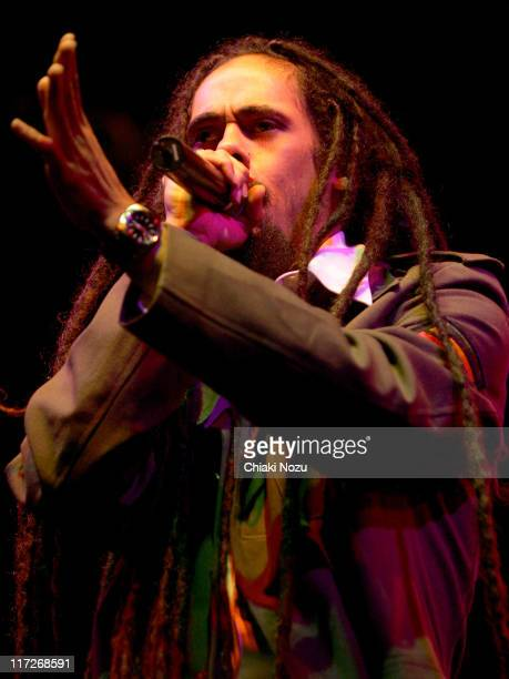 Damian Marley during Damian Jr Gong Marley Performs Live at 2006 Somerset House Summer Series July 11 2006 at Somerset House in London Great Britain