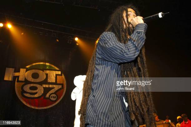 Damian Marley during HOT 97's 'On The Reggae Tip' Live September 2 2005 at Hammerstein Ballroom in New York City New York United States