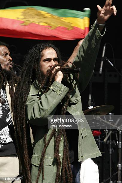 Damian Marley during KROQ Weenie Roast Fiesta 2006 May 13 2006 at Verizon Wireless Amphitheater in Irvine California United States