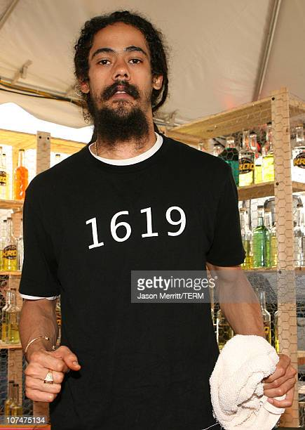 Damian Marley during KROQ Weenie Roast Y Fiesta 2006 Backstage and Audience at Verizon Wireless Amphitheater in Irvine California United States