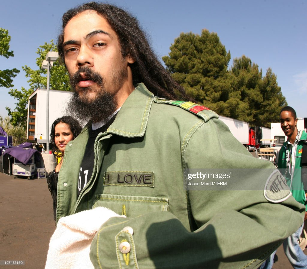 Damian Marley during KROQ Weenie Roast Y Fiesta 2006 - Backstage and Audience at Verizon Wireless Amphitheater in Irvine, California, United States.