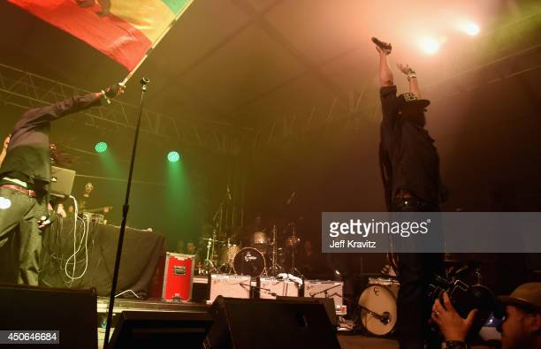Damian Marley performs during the Superjam onstage at This Tent during day 3 of the 2014 Bonnaroo Arts And Music Festival on June 14 2014 in...