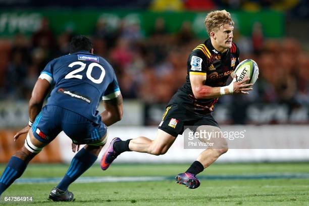 Damian McKenzie of the Chiefs in action during the round two Super Rugby match between the Chiefs and the Blues at Rugby Park on March 3 2017 in...