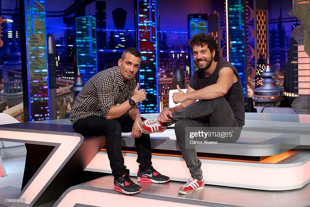 Damian Molla (L) and Juan Ibanez (R) attend the 'El Hormiguero 3.0' new season presentation at the Vertice Studio on August 29, 2013 in Madrid, Spain.