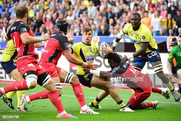 Damian Penaud of Clermont during the Top 14 Final between RC Toulon and Clermont Auvergne at Stade de France on June 4 2017 in Paris France