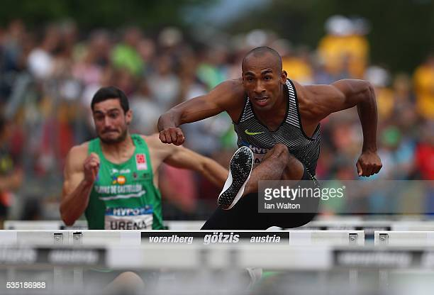 Damian Warner of Canada in action in the mens Decathlon 110m hurdles during the Hypomeeting Gotzis 2016 at the Mosle Stadiom on May 29 2016 in Gotzis...