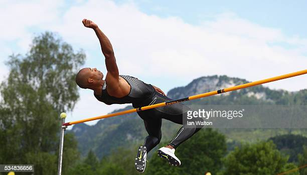 Damian Warner of Canada in action in the mens Decathlon high jump during the Hypomeeting Gotzis 2016 at the Mosle Stadiom on May 28 2016 in Gotzis...